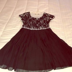 Girls size 12 black and silver dress
